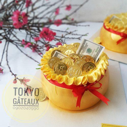 bánh sinh nhật hũ tiền vàng