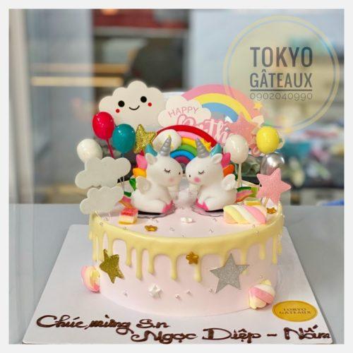 bánh sinh nhật bộ đôi Unicorn sz16 *- 340