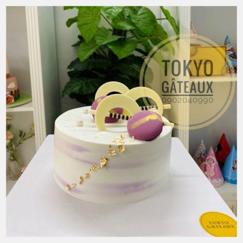 bánh sinh nhật mini tím sz16 - 180